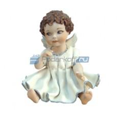 Фарфоровая статуэтка Ангелочек в платье (Sibania)