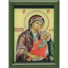 Малая икона Божией Матери Утоли мои печали Swarovski