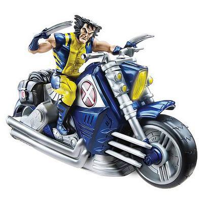 Фигурка «Росомаха на мотоцикле»