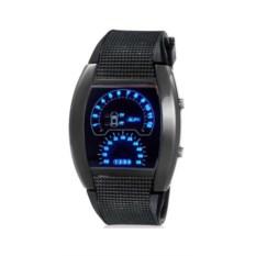 Черные светодиодные часы Спидометр