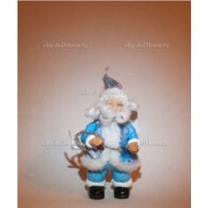 Голубая игрушка Дед Мороз на елку