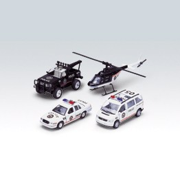 Игровой набор машин Полиция 4 шт. Welly