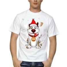 Мужская футболка Собака с высунутым языком