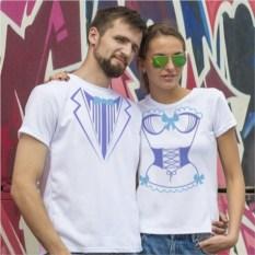Парные футболки «Мистер и миссис»