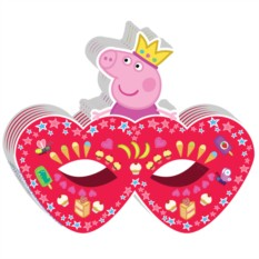 Маска бумажная «Пеппа-принцесса»