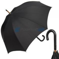 Зонт-трость Молнииот Jean Paul Gaultier с ручкой из кожи