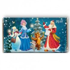 Шоколадная открытка «Дедушка Мороз - дирижер»