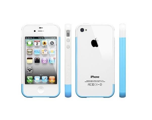 Бампер SGP Linear EX Meteor Series для iPhone 4/4s, Blue