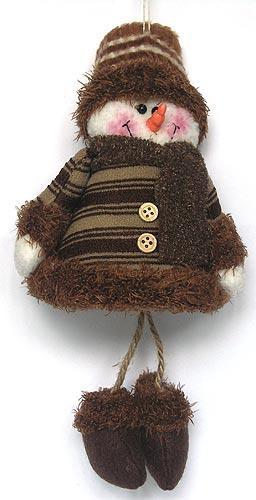 Игрушка подвесная Снеговик (коричневый)