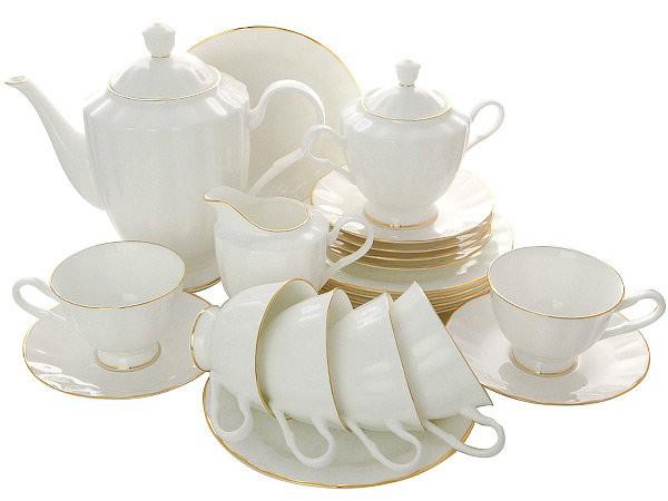 Чайный сервиз форма Нега с рисунком Золотая лента