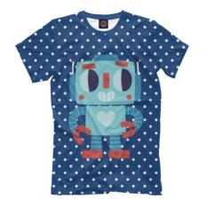 Мужская футболка Робот любви