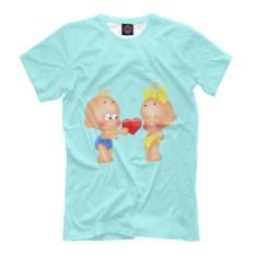 Мужская футболка Дарю сердечко