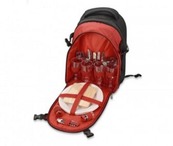 Рюкзак для пикника с набором посуды и непромокаемым пледом