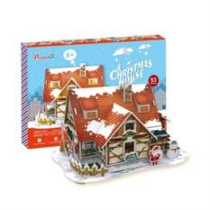 Пазлы Cubic Fun Рождественский домик 1 (с подсветкой)