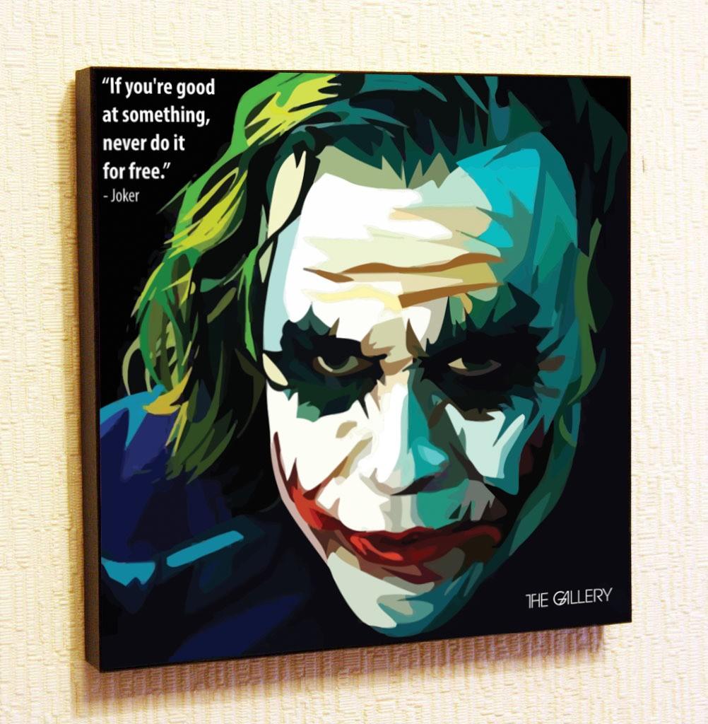 Картина в стиле поп-арт Джокер 2