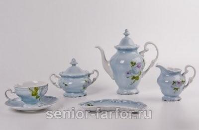 Чайный сервиз Weimar Porzellan (Алвин голубой) на 6 персон