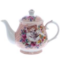 Розовый чайник Собачка