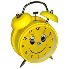 Часы будильник Веселый, желтый