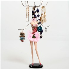 Подставка для украшений Розовое платье