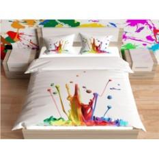 Комплект постельного белья Цветные брызги