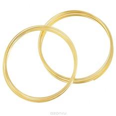 Проволока для браслета Астра, с памятью, цвет: золотистый, 0,6 мм, 2 шт
