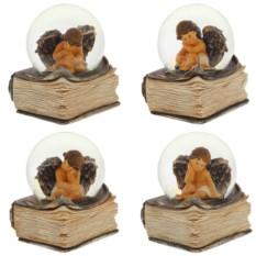 Декоративная фигурка в стеклянном шаре Ангел с книгой