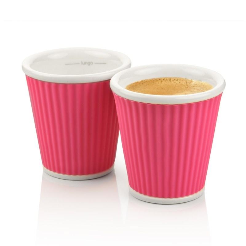 Набор чашек Ondules 100 мл, розовый