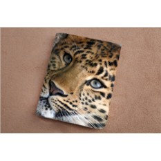 Горизонтальный кардхолдер из кожи Глаза леопарда
