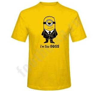 Мужская футболка с Миньоном I'm the BOSS