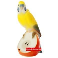 Фарфоровая статуэтка Волнистый попугайчик Яшка