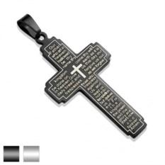 Кулон-крест из ювелирной стали Spikes