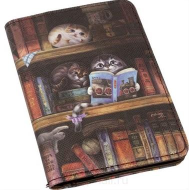 Обложка для паспорта «В библиотеке»