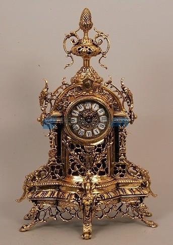 Часы из бронзы с шишкой, цвет золотой