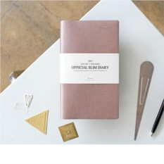 Ежедневник Official Slim, цвет розовое золото