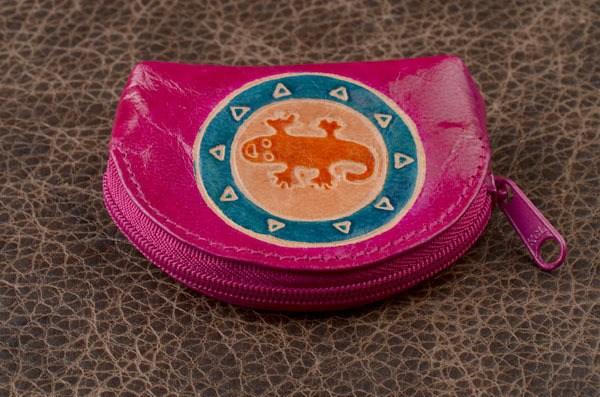 Монетница Socotra, розовая, ящерка