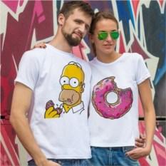 Парные футболки Гомер и Вкусняшка