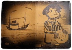 Обложка для паспорта Капитан
