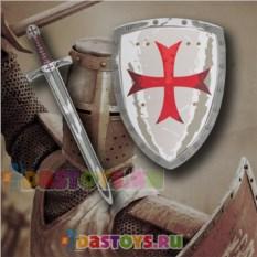 Игровой набор рыцаря-крестоносца Щит и меч