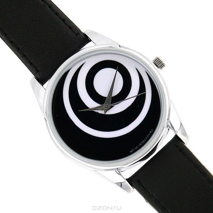Часы наручные Mitya Veselkov Черные диски