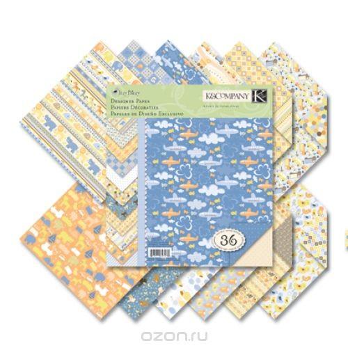 Набор бумаги для скрапбукинга K&Company Для мальчика, 36 листов