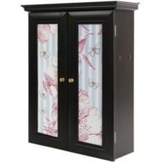 Декоративный настенный шкафчик Бабочки на голубом венге