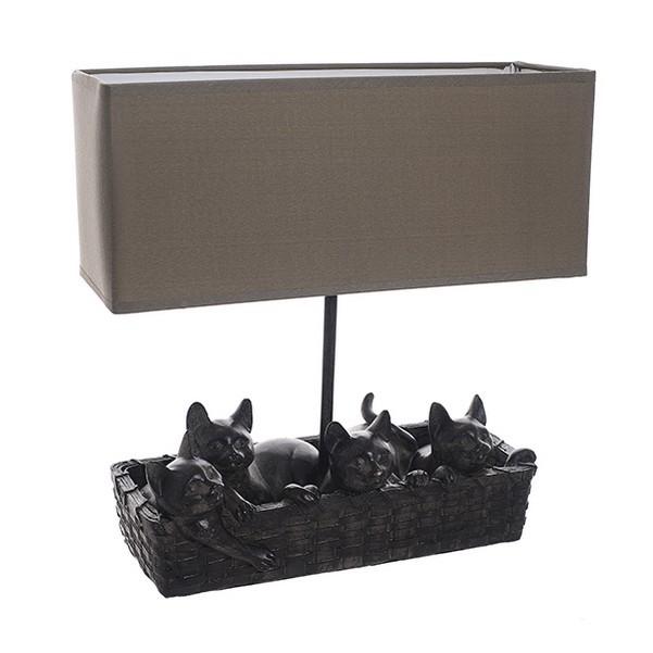 Настольная лампа Корзина с котятами