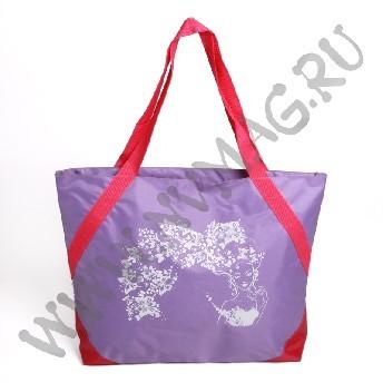 Сиреневая пляжная сумка
