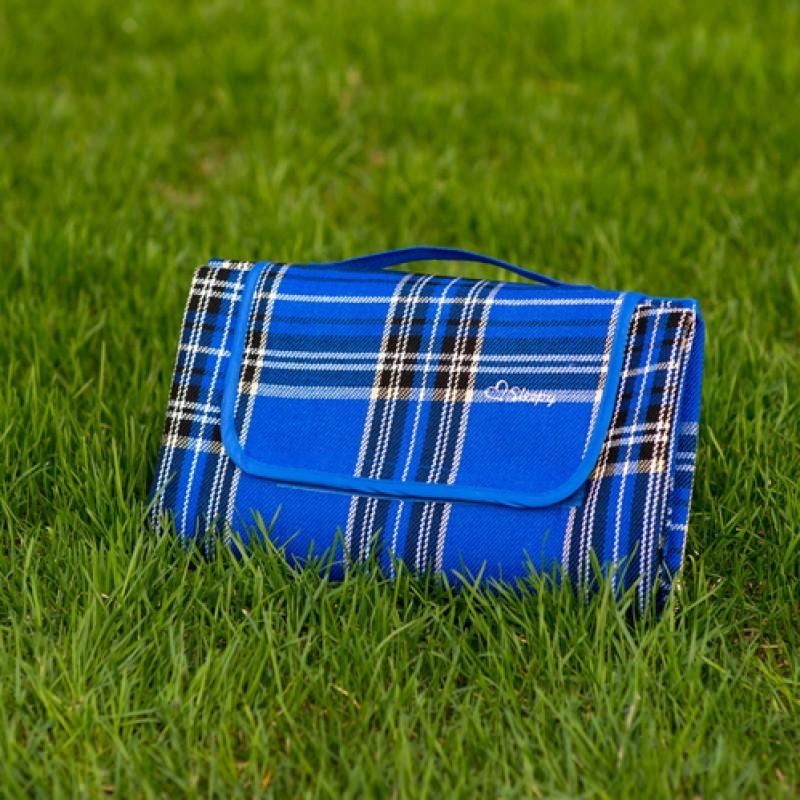 Непромокаемый синий плед для пикника Sleepy Piсnic