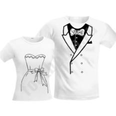 Парные белые футболки Свадебные