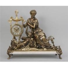 Часы-статуэтка Virtus Дама с арфой