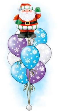 Букет из шаров «Зима – Дед Мороз»