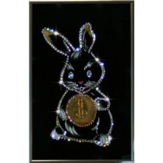 Картина с кристаллами Сваровски Кролик-бакс