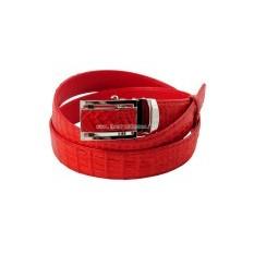Ремень Fire Red из кожи крокодила