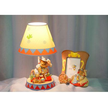 Лампа настольная «Мишка-ковбой»